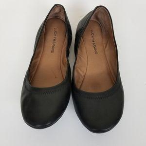 Lucky Brand Black Ballet Flats size 9